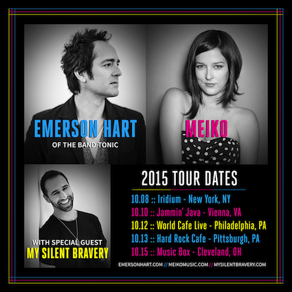 My Silent Bravery October 2015 Tour
