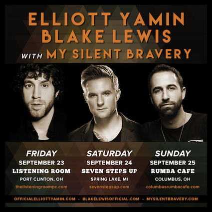 My Silent Bravery Tour Dates Elliott Yamin Blake Lewis