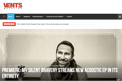 My Silent Bravery Vents Magazine Breakthrough Acoustic Premiere